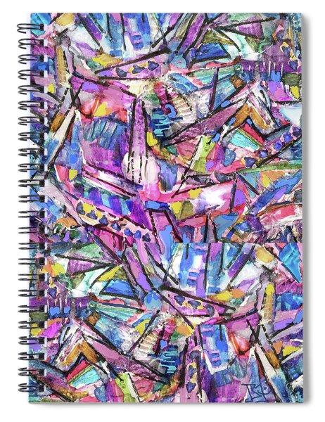 Prism Fractal Spiral Notebook