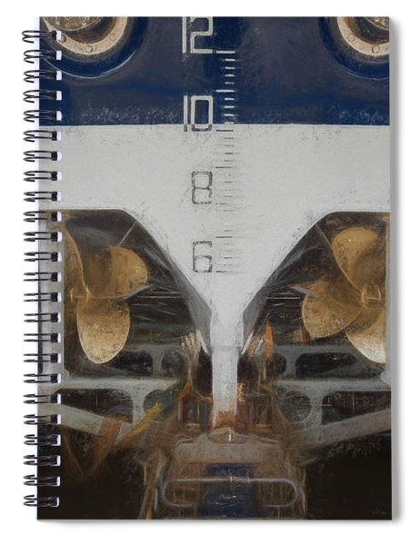 Propellers Of A Lifeboat 2 Spiral Notebook