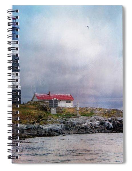 Lighthouse At Race Rocks Spiral Notebook