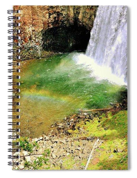 Rainbow Falls 22 Spiral Notebook