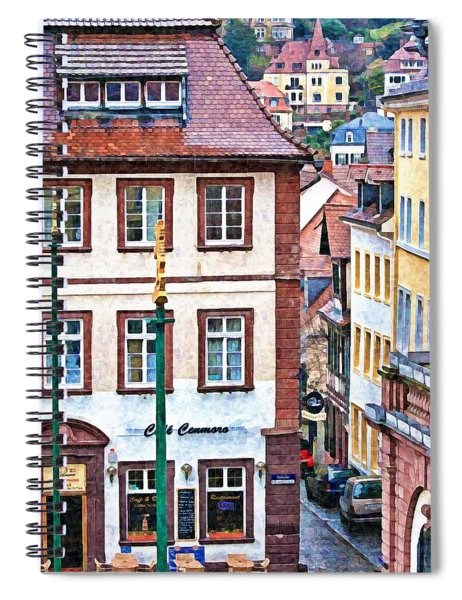 Rainy Day In Heidelberg Spiral Notebook
