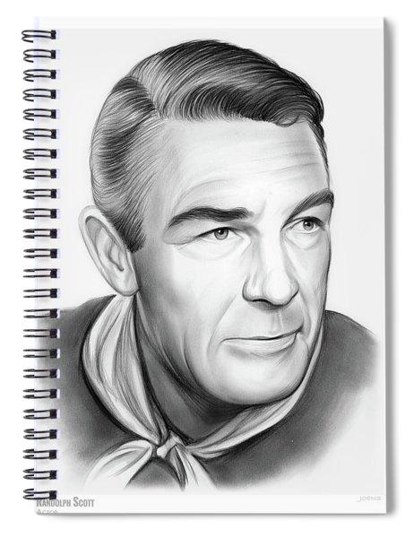 Randolph Scott Spiral Notebook