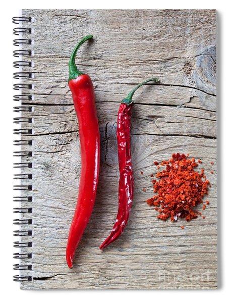 Red Chili Pepper Spiral Notebook by Nailia Schwarz