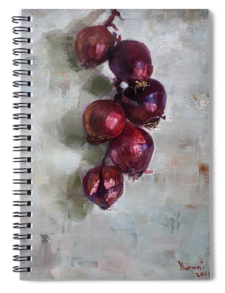 Red Onions Spiral Notebook