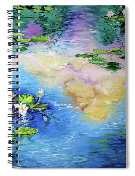 Reflections On A Waterlily Pond Spiral Notebook