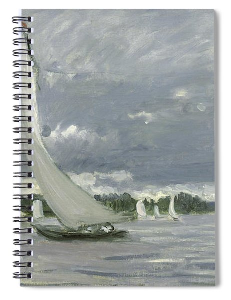 Regatta At Argenteuil Spiral Notebook