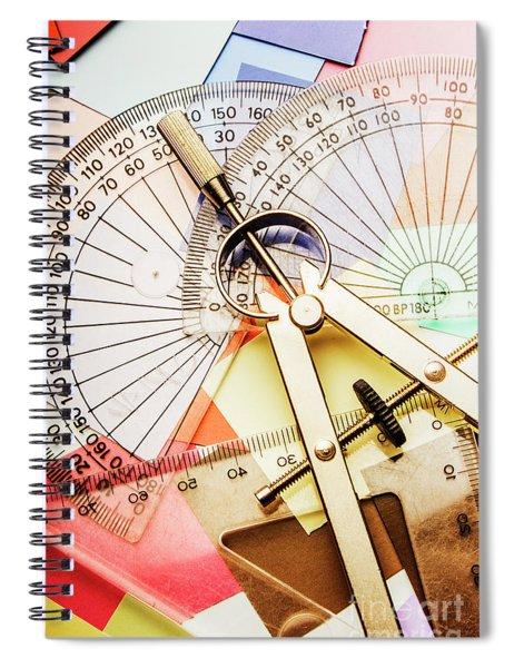 Retro Interior Design Spiral Notebook
