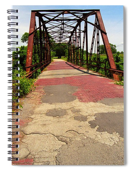 Route 66 - One Lane Bridge Spiral Notebook
