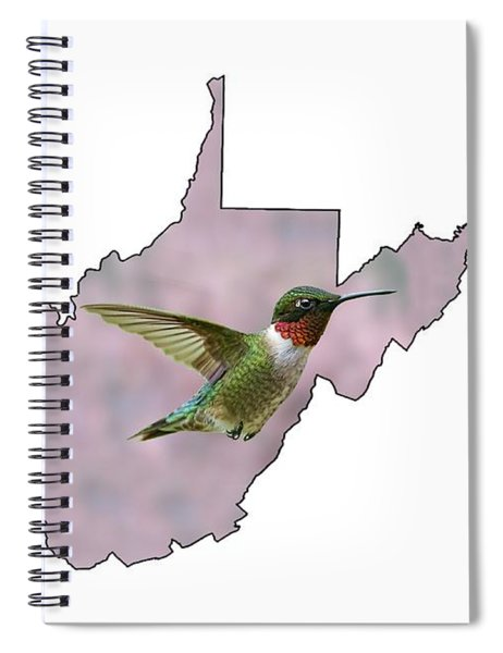 Ruby-throated Hummingbird  Beautiful Coloring Spiral Notebook