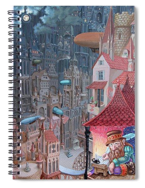 Saga Of The City Of Zeppelins Spiral Notebook