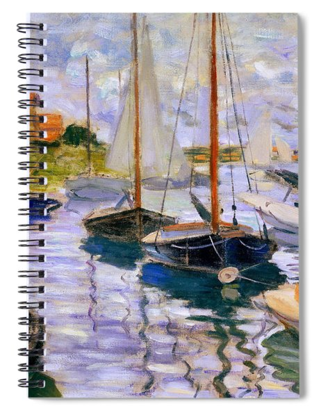 Sailboats On The Seine  Spiral Notebook