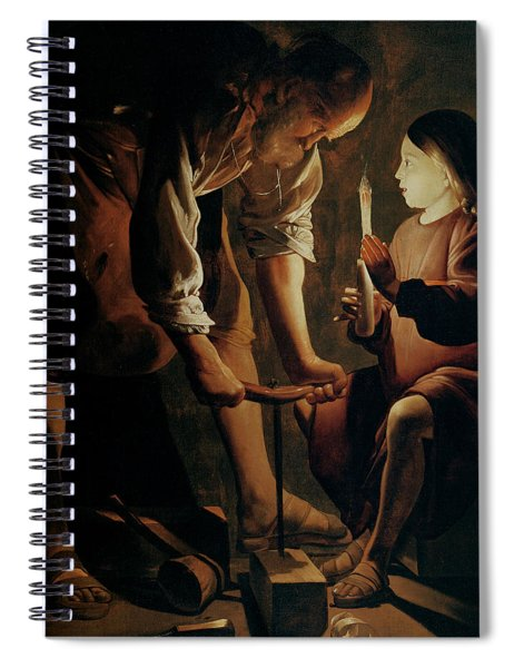 Saint Joseph The Carpenter  Spiral Notebook