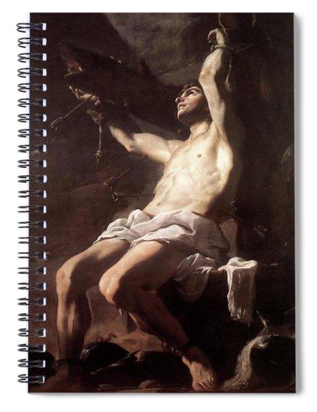 Saint Sebastian By Mattia Preti Spiral Notebook