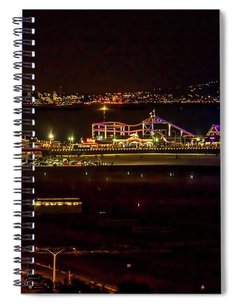 Santa Monica Pier Light Show - Series 3 Spiral Notebook