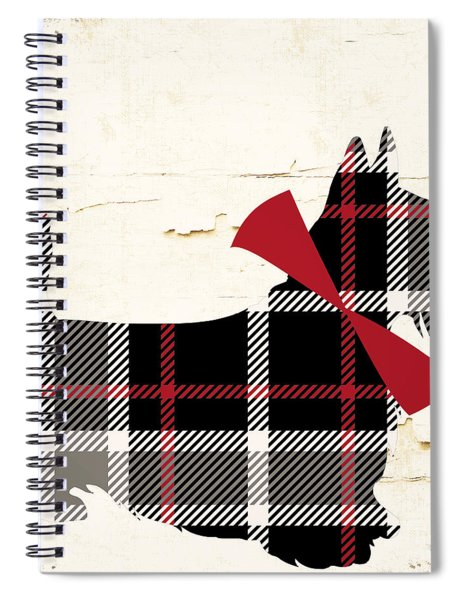 Scottish Terrier Tartan Plaid Spiral Notebook