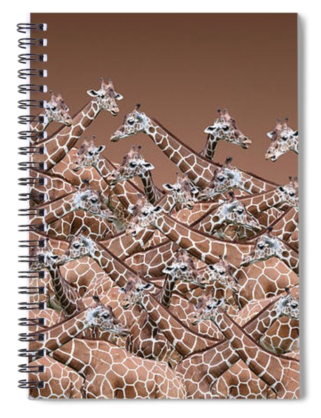 Sea Of Giraffes Spiral Notebook