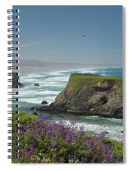 Sea Stacks And Surf Spiral Notebook