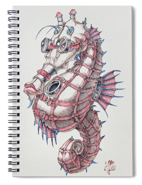 Seahorse In Steampunk Spiral Notebook