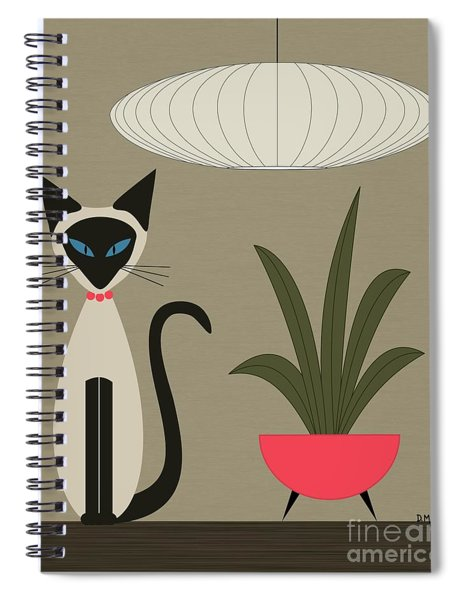 Siamese Cat On Tabletop Spiral Notebook