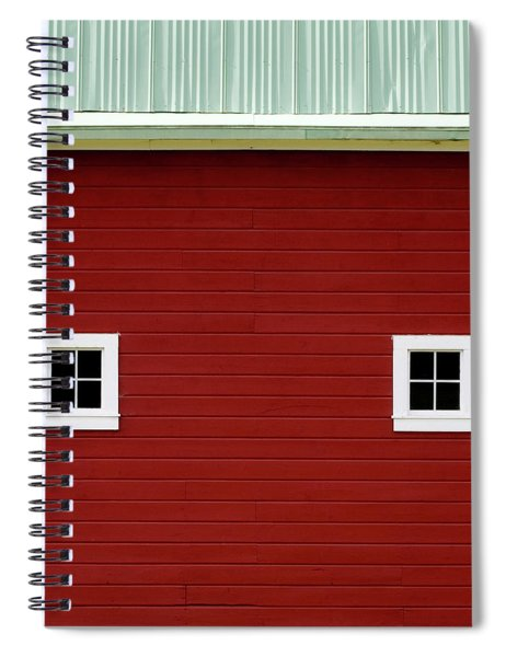 Side Of A Big Red Barn In The Palouse Spiral Notebook
