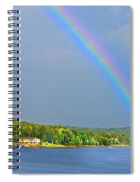 Smith Mountain Lake Rainbow Spiral Notebook