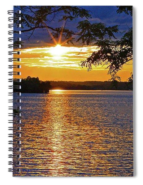 Smith Mountain Lake Summer Sunet Spiral Notebook