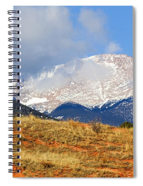Snow Capped Pikes Peak Colorado Spiral Notebook
