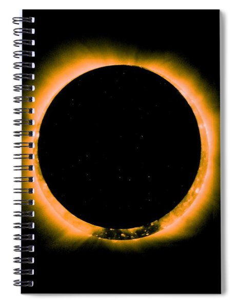 Solar Eclipse By Hinode Observes, Nasa 5 Spiral Notebook