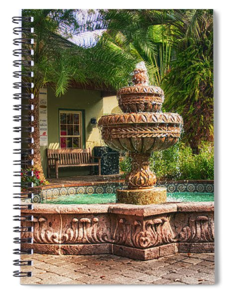 Spanish Fountain Spiral Notebook