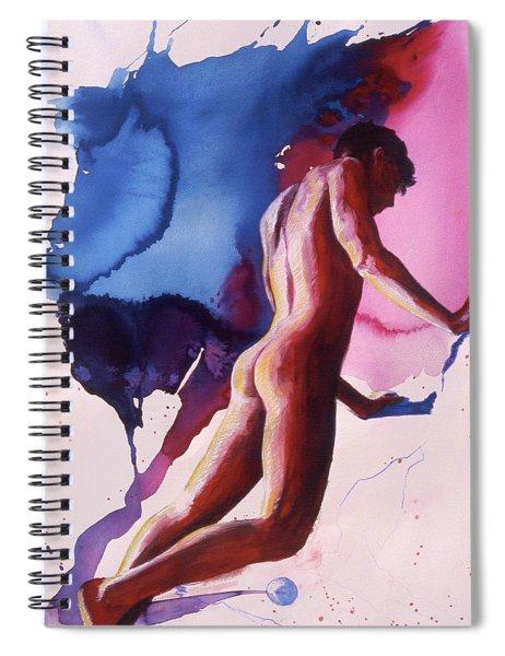 Splash Of Blue Spiral Notebook