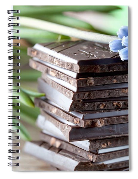 Stack Of Chocolate Spiral Notebook