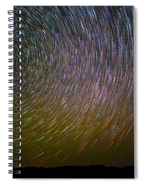 Star Trail Spiral Notebook