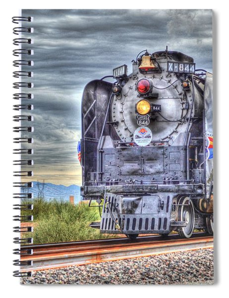 Steam Train No 844 Spiral Notebook
