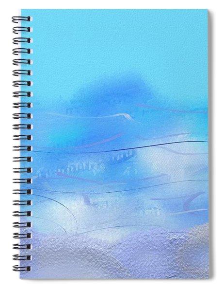 Looking At The Sea In Stensund Spiral Notebook