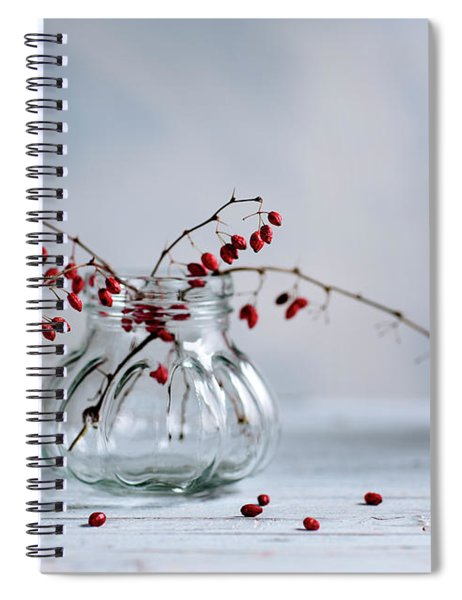 Still Life With Red Berries Spiral Notebook