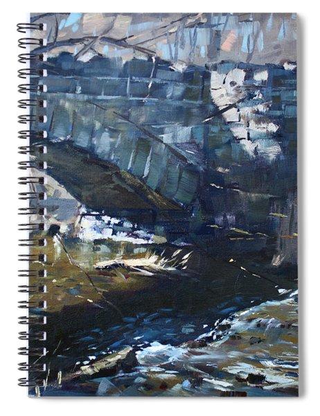 Stone Bridge At Three Sisters Islands Spiral Notebook