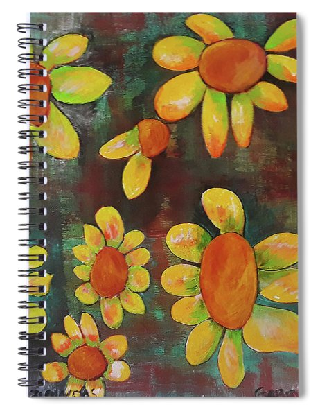 Stoned Flowers Spiral Notebook