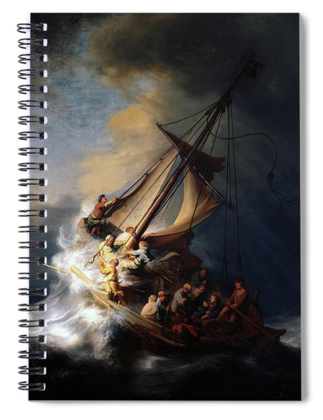 Storm On The Sea Of Galilee Spiral Notebook