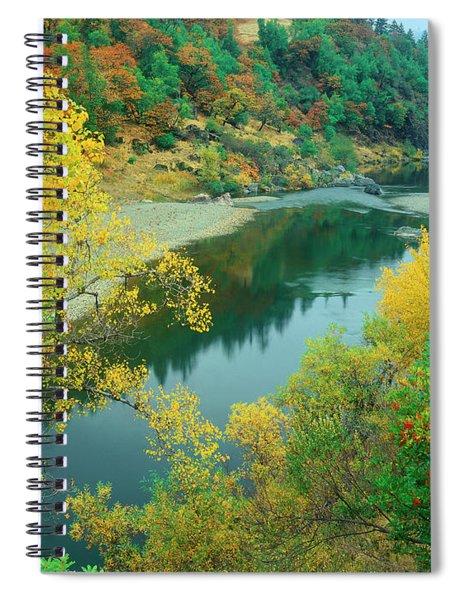 Stream Fall Color Fir Trees Central California Spiral Notebook