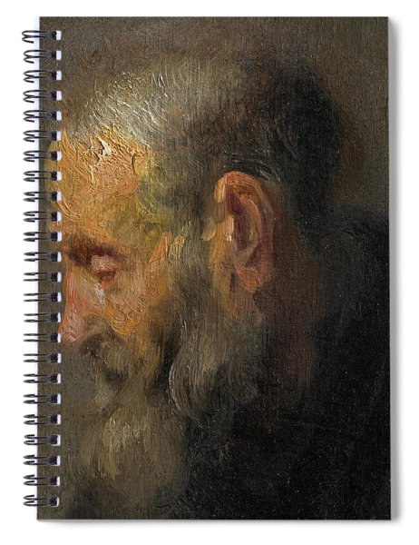 Study Of An Old Man In Profile Spiral Notebook