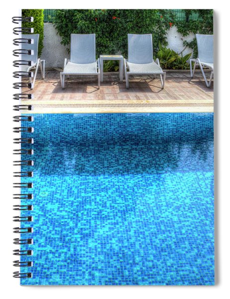 Summer Swimming Pool Spiral Notebook