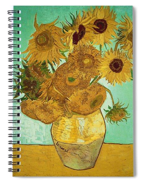 Sunflowers By Van Gogh Spiral Notebook