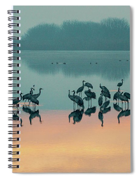 Sunrise Over The Hula Valley Spiral Notebook