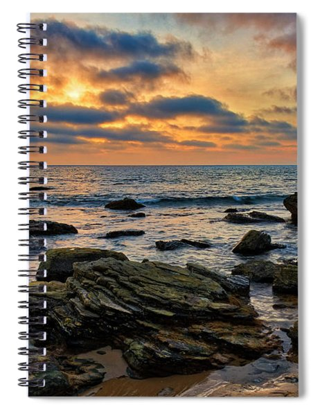 Sunset At Crystal Cove Spiral Notebook