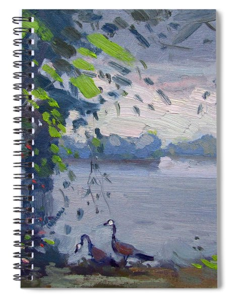Sunset At Goat Island Spiral Notebook