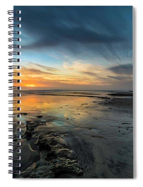 Sunset At Swamis Beach Spiral Notebook