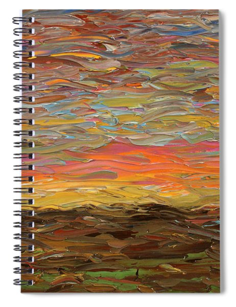 Spiral Notebook featuring the painting Sunset by James W Johnson