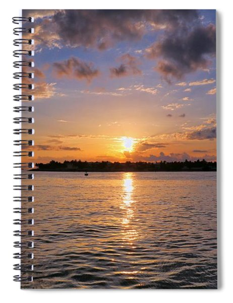 Key West Sunset From Mallory Square Spiral Notebook