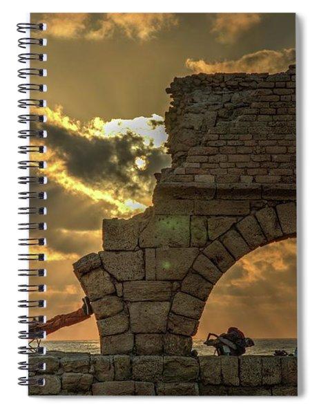 Sunset Over The Mediterranean 2 Spiral Notebook