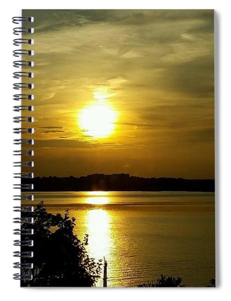 Sunset Over The Potomac Spiral Notebook